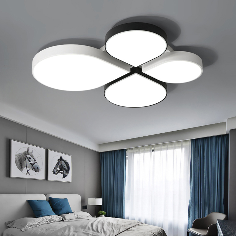 White Black LED ceiling lighting ceiling lamps for the living room bedroom chandeliers Ceiling for the hall modern ceiling lamp modern ceiling lamp contemporary acryl creative lighting simple design white black luminaire ac for living room hall foyer light
