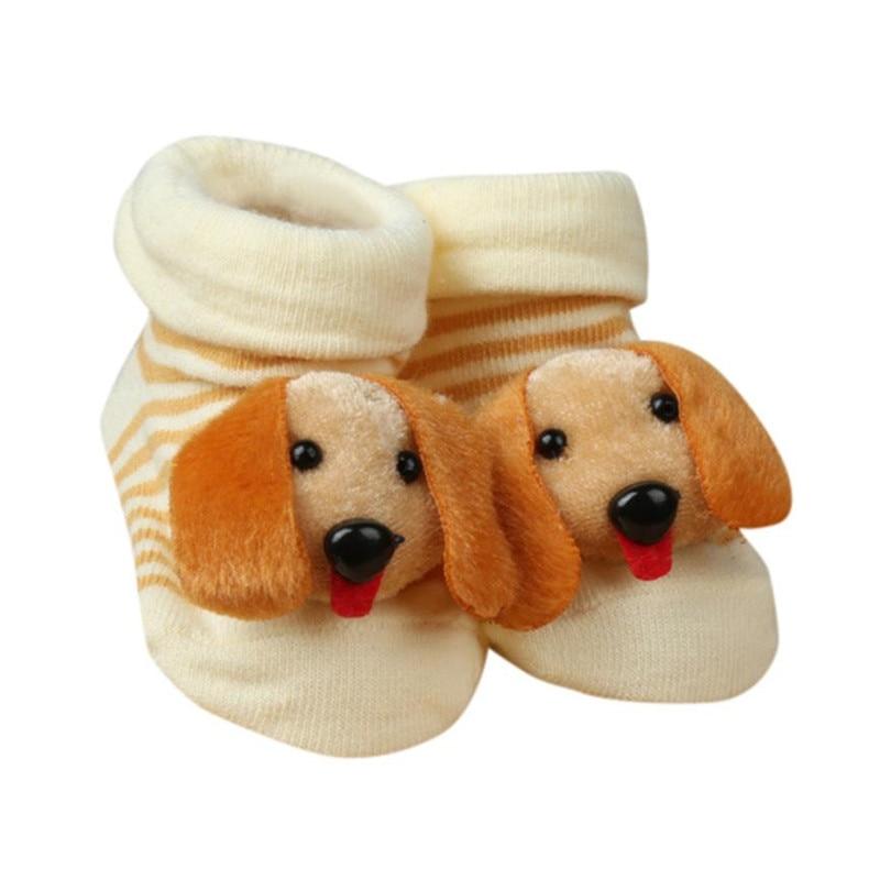 Discount 0-6 Months Cartoon Newborn Baby Girls Boys Anti-slip Socks Slipper Shoes baby boots First Walker sapatilha infantil