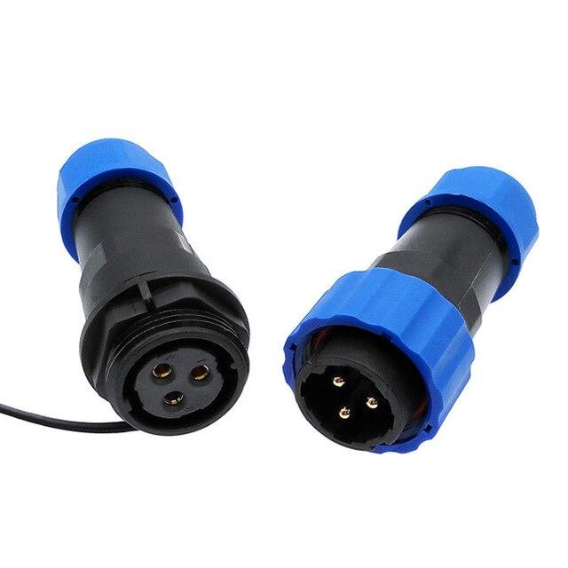 SP20 прямо водонепроницаемый разъем 1/2/3/4/5/6/7/9/10/12/14Pin IP68 Industrial power штекер и гнездо