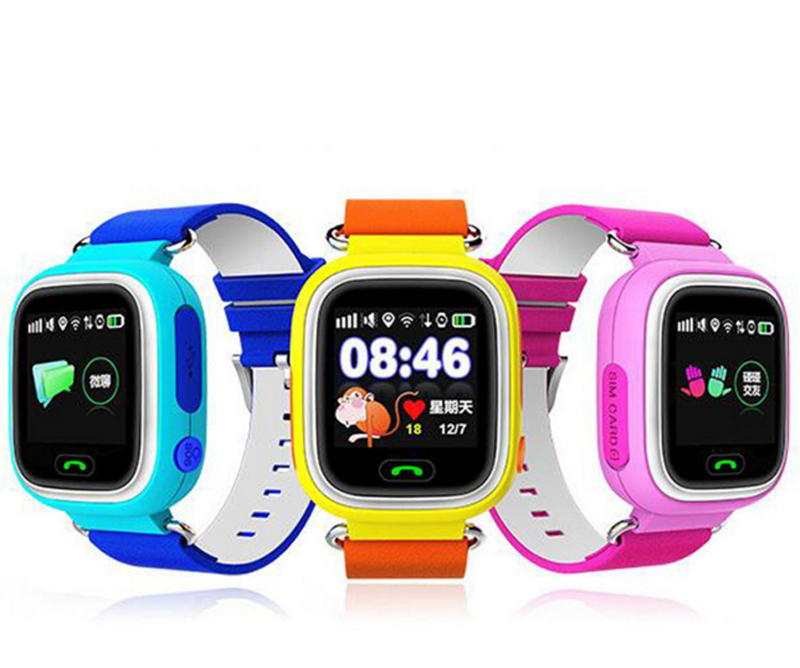 LNBEI Q90 GPS Touch Screen WIFI Smart Watch Child SOS Location Finder Device Tracker Kid Safe Anti Lost Monitor Smartwatch