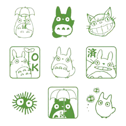 9 teile/satz Cosas Kawaii Nette Totoro Planer Stempel DIY Lichtempfindliche Dichtung Dekoration Scrapbooking Briefmarken und Stirbt für Die Karte