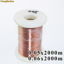 ChengHaoRan 0,05 0,06mm 2000 m/unids QA 1 155 nuevo alambre esmaltado de poliuretano, alambre de cobre se vende por metro