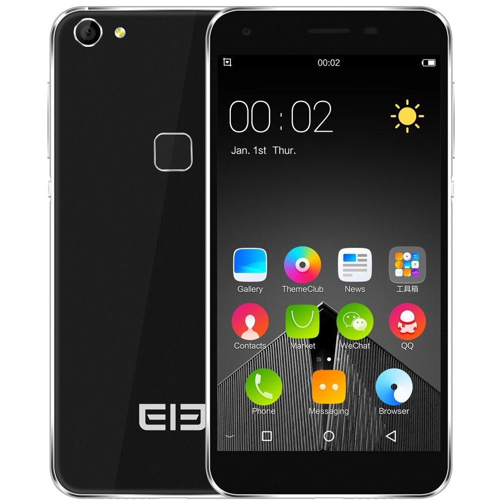 """Цена за Оригинал Elephone S1 3 Г Смартфон Android 5.1 MTK6580 Quad Core 5.0 """"1.3 ГГц 1 ГБ 8 ГБ Отпечатков Пальцев Dual Sim Мобильный Телефон Случае Фильм"""