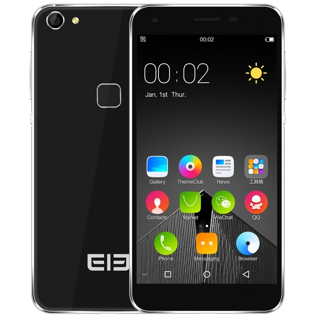 "Original Elephone S1 3G Smartphone Android 5.1 MTK6580 Quad Core 5.0"" 1.3GHz 1GB 8GB Fingerprint Dual Sim Cellphone Case Film"