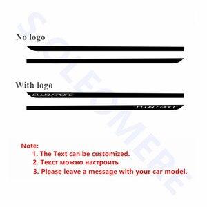 Image 4 - Clubsport style fibre de carbone décalcomanie voiture côté jupe autocollant Automobiles accessoires pour Volkswagen Golf 7 MK7