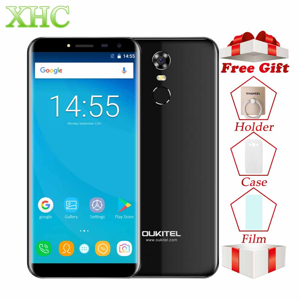 OUKITEL C8 5.5 pouce Mobile Téléphone RAM 2 gb ROM 16 gb D'empreintes Digitales ID Android 7.0 MTK6850A Quad Core WCDMA 3g Double SIM GPS Smartphone