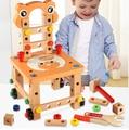 2016 New cadeira Lubanjiang multifuncional ferramenta fio porca combinação criança montagem do enigma blocos de brinquedo de madeira