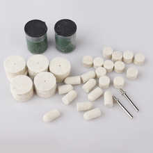 34pcs Wool Polish Wheel Kit With Polishing Powder For Rotary Tool Polishing Wheel Wool Felt Wheel Metal Woodworking Sets New polishing wheel 320 for grinding wheel tool for polish or rusty remove at good price and fast delivery