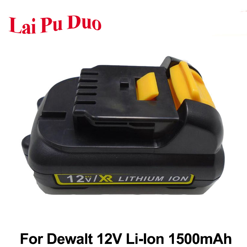 <font><b>12V</b></font> <font><b>1.5Ah</b></font> Li-Ion Replacement Power Tool Battery For DEWALT DCB120 DCT414S1 DCB100 DCT410S1 DCL510 DCF610S2 DCF815 DCF813S2 image