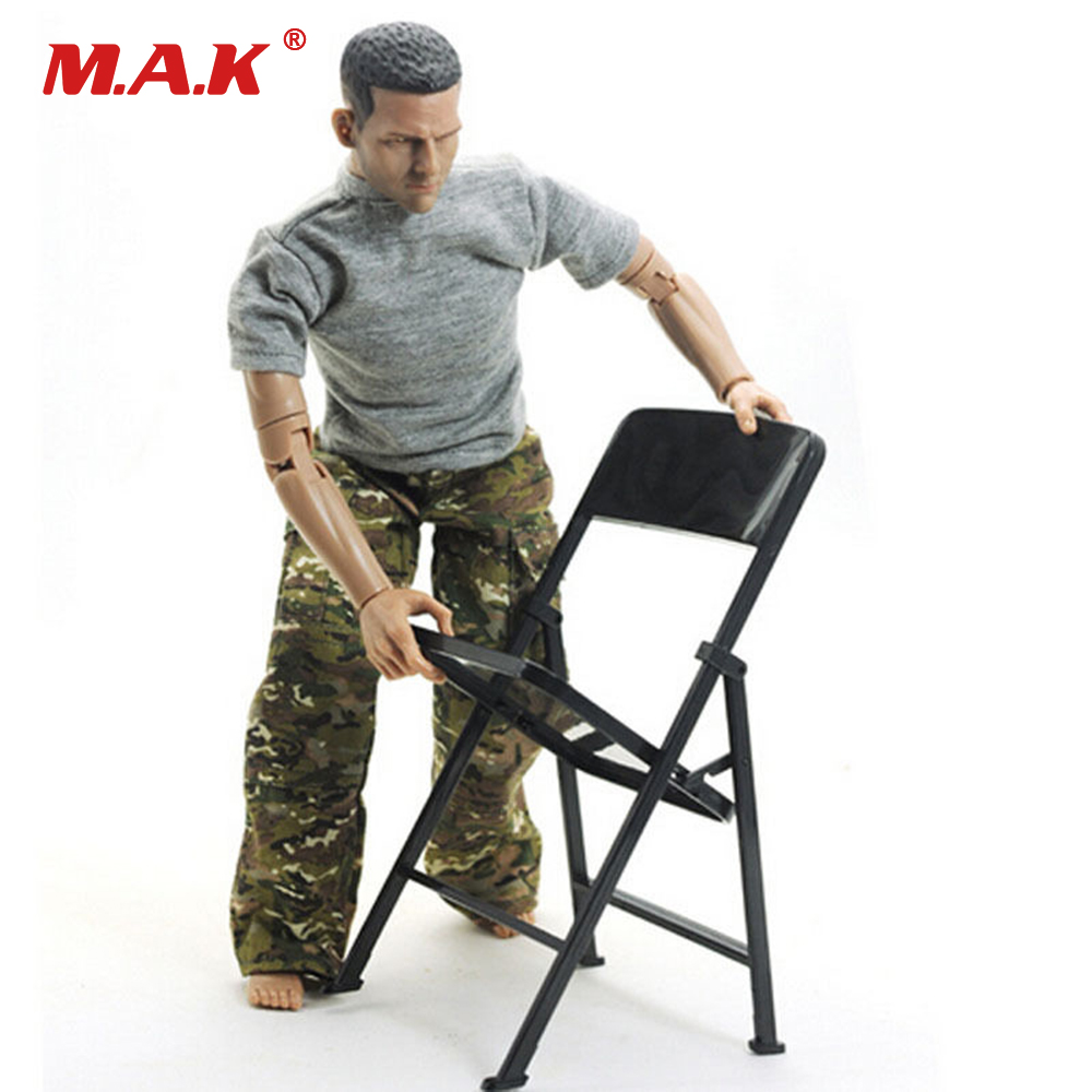 1/6 Scale Figure Solider Black Folding Chair Model for 12 Action Figure Body Doll Accessories1/6 Scale Figure Solider Black Folding Chair Model for 12 Action Figure Body Doll Accessories