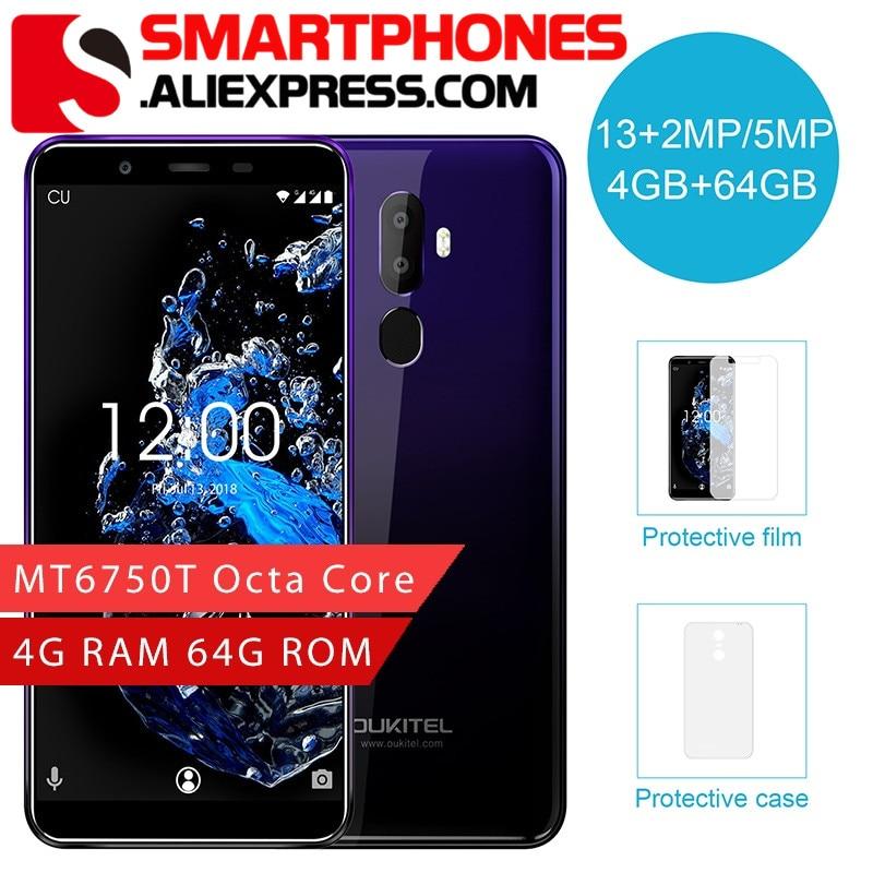 Oukitel U25 Pro 5 5 FHD Smartphone Screen MT6750T Octa Core 4GB 64GB Android 8 1