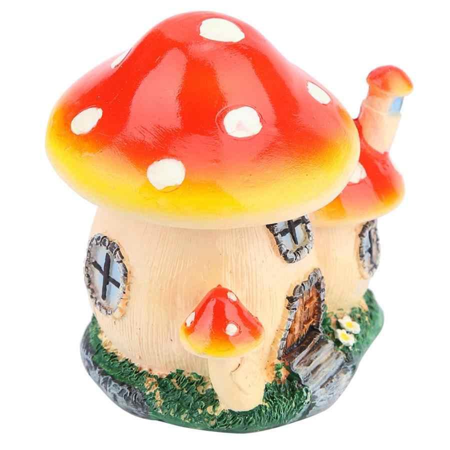 Аксессуары для украшения дома миниатюрные фигурки, миниатюры растительные горшки Сказочный кукольный домик резиновый гриб дом садовый орнамент