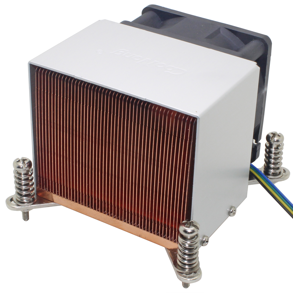 2U Server CPU <font><b>Cooler</b></font> Heatsink Cooling Fan For Intel Xeon LGA 1155 <font><b>1156</b></font> 1150 1151 Industrial computer workstation Active Cooling image