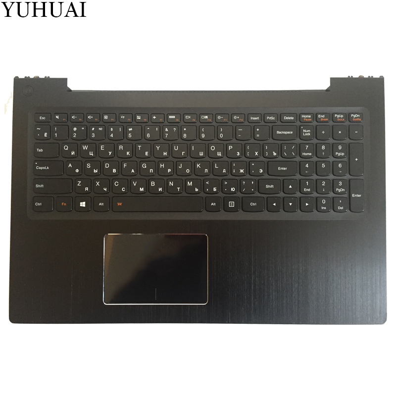 все цены на New Russian/RU laptop keyboard FOR Lenovo IdeaPad U530 Palmrest Keyboard Bezel Cover Touchpad with Backlit 90204072 black онлайн