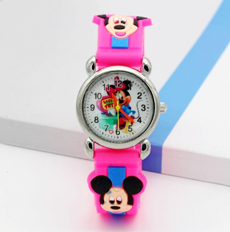 Hot Sell 3D Cartoon Kids Watches Children Boys Girls Minnie Mouse Watch Casual Silicone Quartz Wristwatch