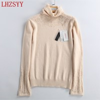 LHZSYY 2017 Autumn winter New Cashmere Sweater women's high collar fashion shirt high quality design pullover soft cozy Sweaters