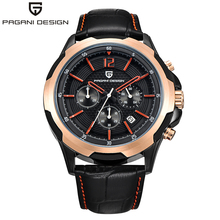 PAGANI DESIGN Mens Watches Top Brand Luxury Chronograph Quartz Watches True six-pin Stainless Steel Case Men's Sport watch