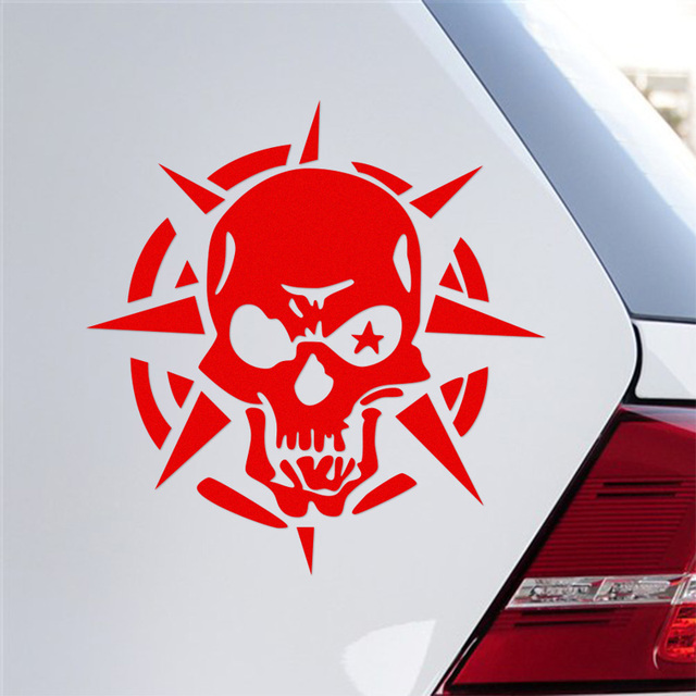 Ghost rider ghost skull funny bumper sticker eye skull personalized car stickers for all cars