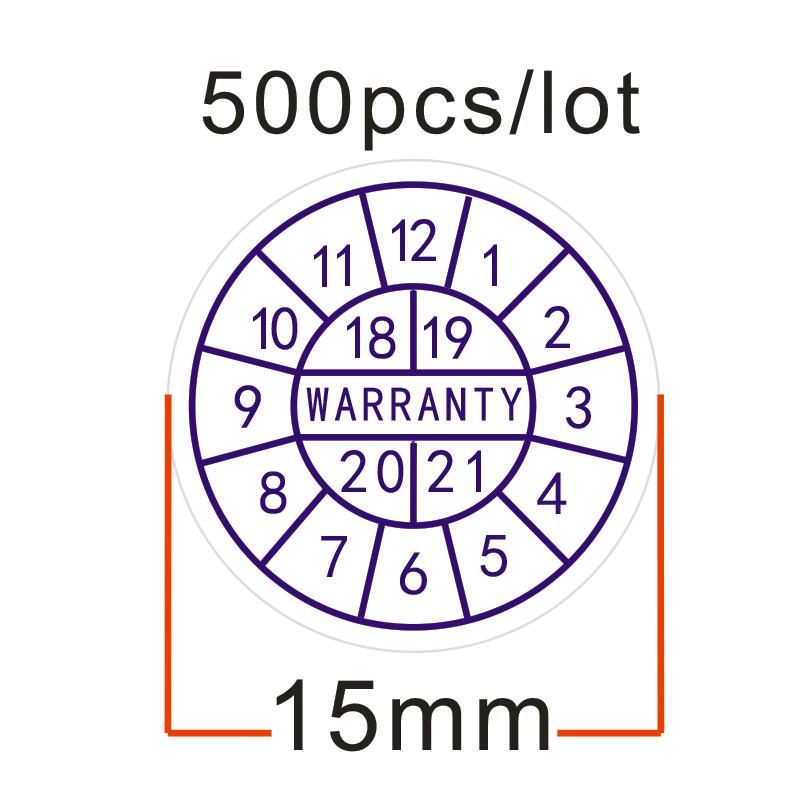 500pcs/lot Warranty sealing label crispness sticker void if damaged, with years and months, Diameter for 15 mm Free shipping free shipping 500pcs lot bat54slt1g mark code kl4 bat54s sot 23 100