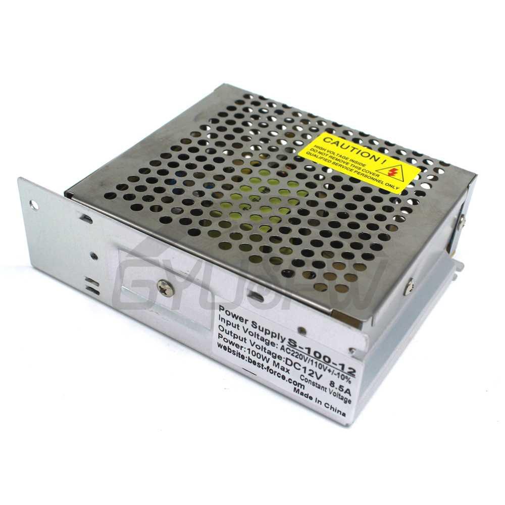Питание dc 12 v 8.5A 100 Вт импульсный трансформатор 220 В 110 В переменного тока до DC12V Светодиодный драйвер для Светодиодные полосы света CNC CCTV 10 шт