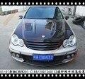 Подходит для Mercedes-Benz C W203 C180 200 260 C32 01-07 решетка для гриля из углеродного волокна