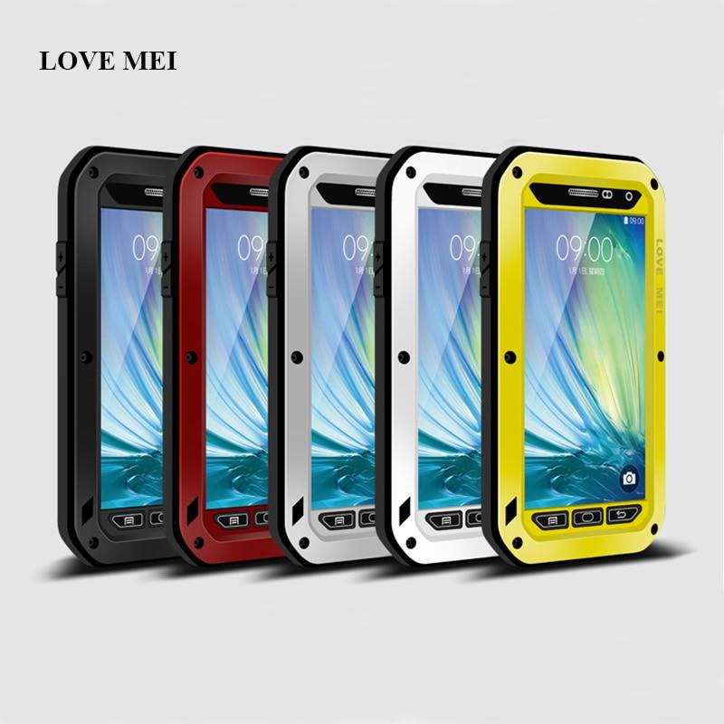 Цена за ЛЮБОВЬ МЭЙ Алюминий Металл Чехол Для Samsung Galaxy A3 2015 мощный Жизнь Водонепроницаемый Противоударный Чехол Для Galaxy A3 A300 A300F A3000