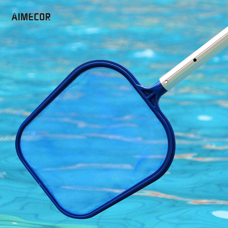 Aimecor Swimming Pool Spa Pond Leaf Skimmer Net Cleaner Blue Fit For pond, hot tub, fountain 1pc