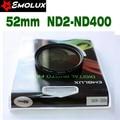52mm Emolux Slim Neutral Density Filter ND2-400 Variable Fader Filter Adjustable ND2 to ND400 For Camera Lens