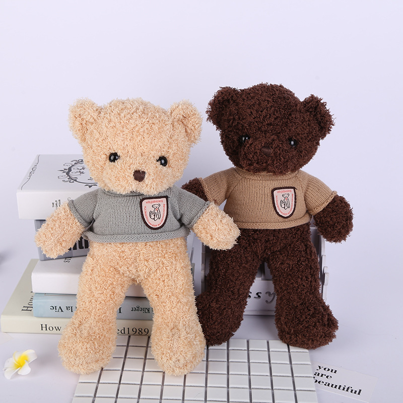 new style about 38cm sweater bear plush toy cute teddy bear soft doll kid's toy Christmas gift s2390