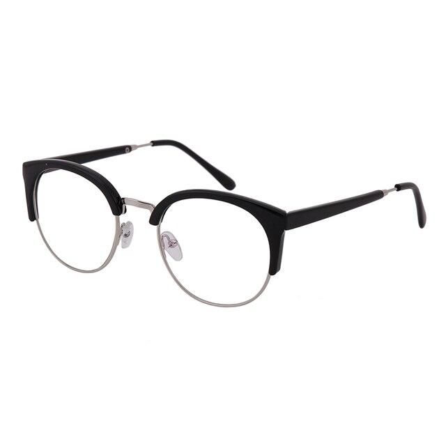 1x retro lente transparente marcos Gafas hombre moda mujer gafas ...