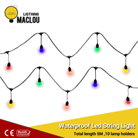 Waterproof Led String Light Garland For Decoration Fairy Lights 5M EU Plug Party Holiday Christmas Lamp Lights Outdoor Garland