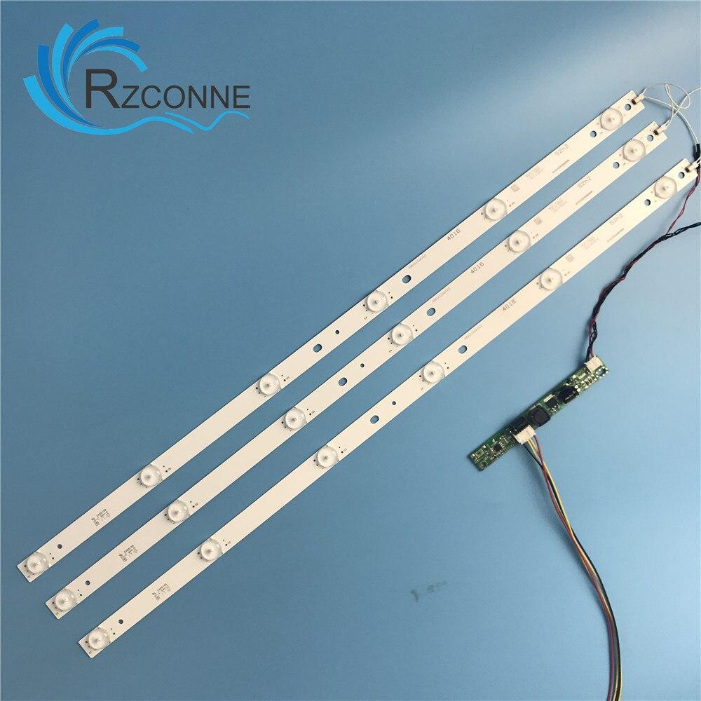 575mm 6leds Universal  LED Backlight Lamps Strip Kit Board W/ Optical Lens Fliter For  31.5inch 32inch LCD LED TV Or Billboard
