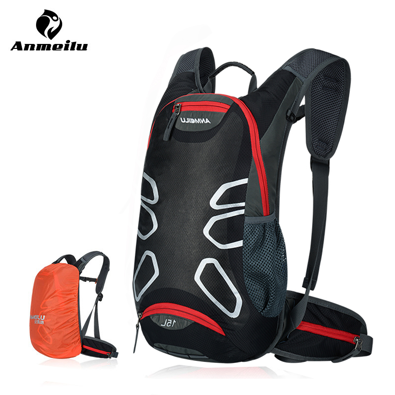 ANMEILU 15L Bicycle Backpck With Rain Cover Waterproof Nylon MTB Bike Bag Outdoor  Sports Cycling Backpack 148b06a554393