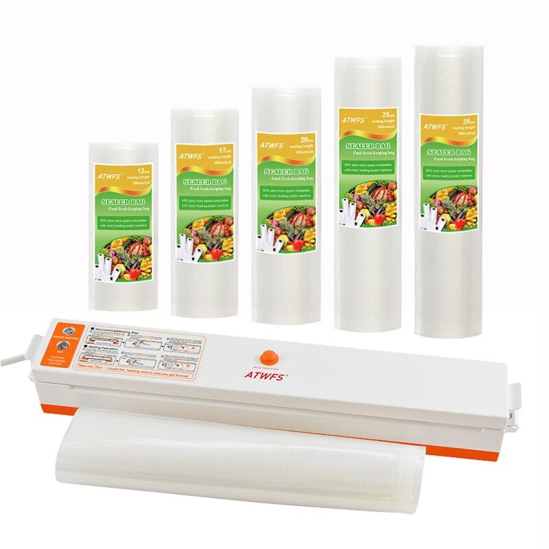 ATWFS вакуумный упаковщик дома еда упаковочная машина запайки Наличие вакуумного мешка 5 рулонов