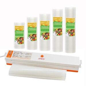 Image 2 - Atwfs Voedsel Vacuüm Sealer Verpakking Machine Met 5 Vacuüm Zak Verpakking Rolls (12X500cm,17X500cm,20X500cm,25X500cm,28X500cm)