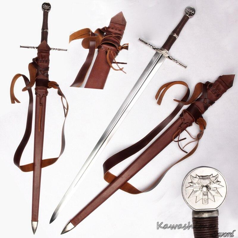 Fatto A Mano genuino Medievale Battaglia spada 1060 In Acciaio Al Carbonio Per Il witcher3: selvaggio Caccia Lama Completa di Linguetta delle Ciri Nuova Fornitura
