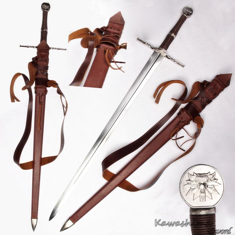 Véritable Fait Main Bataille Médiévale épée 1060 Acier au carbone Pour Le witcher3: chasse sauvage Ciri de Lame Pleine Soie Nouvelle Offre