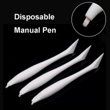 1pcs Manual Microblading Pen Tool Disposable with blades Permanent Makeup 3D Eyebrow Lip Hand Tools Tattoo Accessories Supplies