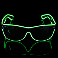 2017New 2AA Battery EL Wire Sunglasses For Party Night Club Barware Concert Sound Control Novelty Holiday