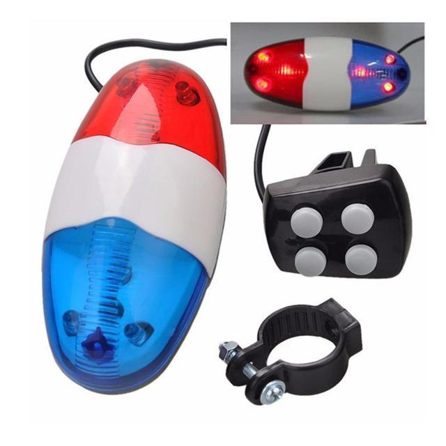 6LED 4 Tone Tone untuk Sepeda Sepeda Bells Lampu Sepeda LED Elektronik Sirene untuk Sepeda Anak-anak Aksesoris Skuter
