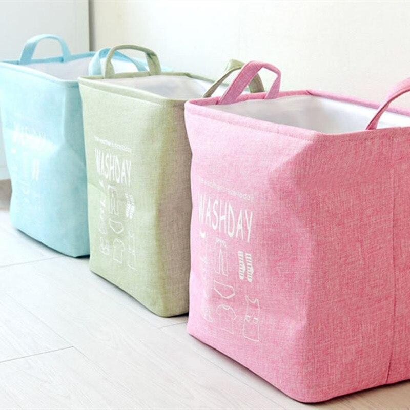 New toy Storage laundry Basket Neatening Linen Waterproof Folding Box Toys Buckets Home Decoration housekeeping organization