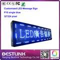 Из светодиодов сообщение вывеска p10 одного синего из светодиодов знак для такси рекламно 32 * 224 пикселей из светодиодов с из светодиодов платы управления