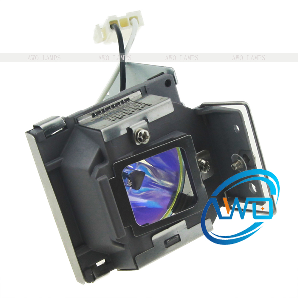 AWO Replacement Projector Lamp RLC-055/RLC055 with Housing for VIEWSONIC PJD5122/PJD5152/PJD5352 awo compatibel projector lamp vt75lp with housing for nec projectors lt280 lt380 vt470 vt670 vt676 lt375 vt675