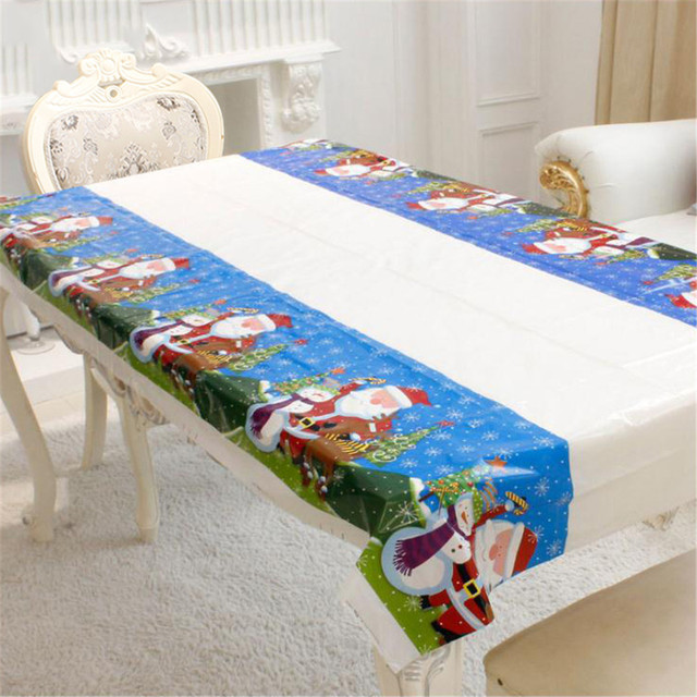 Disposable Christmas Tablecloth Table Cloth Theme Kids Birthday Party Supplies Decoration Pvc Kitchen Cover