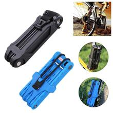Alloy Steel Bike Folding Lock Bicycle Cycling Mountain Road Racing Motorcycle Anti-Theft Safety Tool High Quality