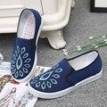 Женщины Досуг Обувь Slip On Квартиры Классические Пекин Ткани Обувь Весна Осень Комфорт Мокасины Мода (35-40)