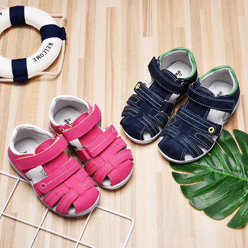 1 Pair Casual Children Kids Shoes Baby Girl Closed Toe Summer Beach Sandals Flat