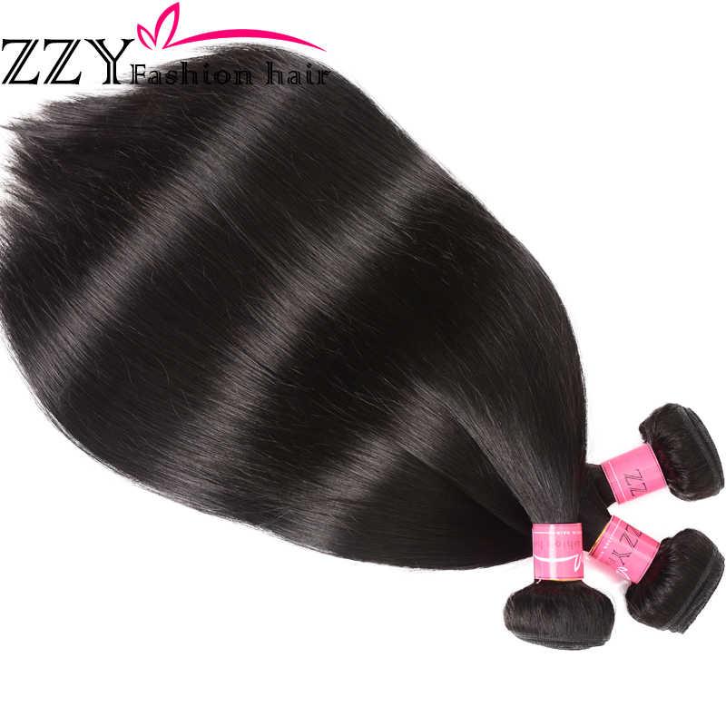 Модные волосы, прямые волосы, пучки с закрытием, перуанские волосы, 3 шт., не Реми, человеческие волосы, пучки с закрытием