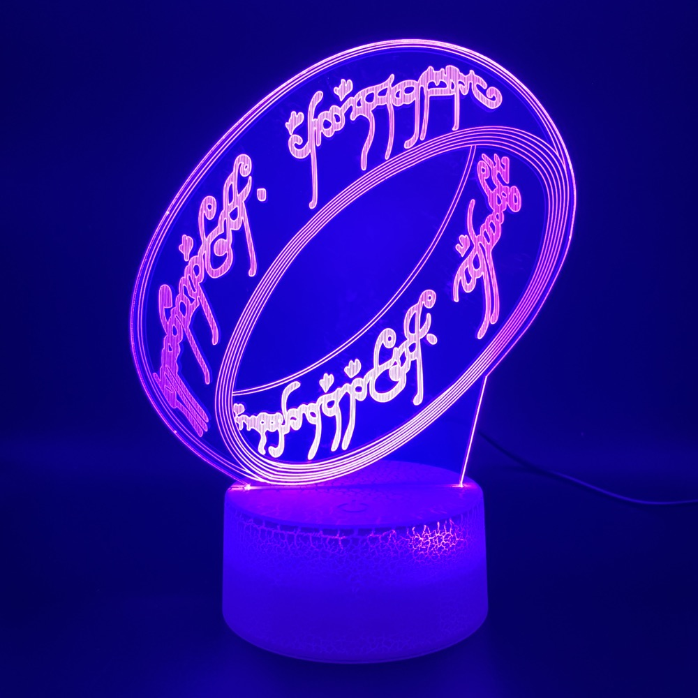Novelty Light The Lord Of The Rings Office Home Decor Atmosphere For Kids Child Bedroom Unique 3d Optical Led Night Light Lamp