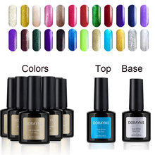 Hot Sale 5PCS Gel Lac 10ml +Base +Top Primer Professional Gel Polish Blue Place DORAYMI 120 Colors Nail UV LED Lamp Varnish